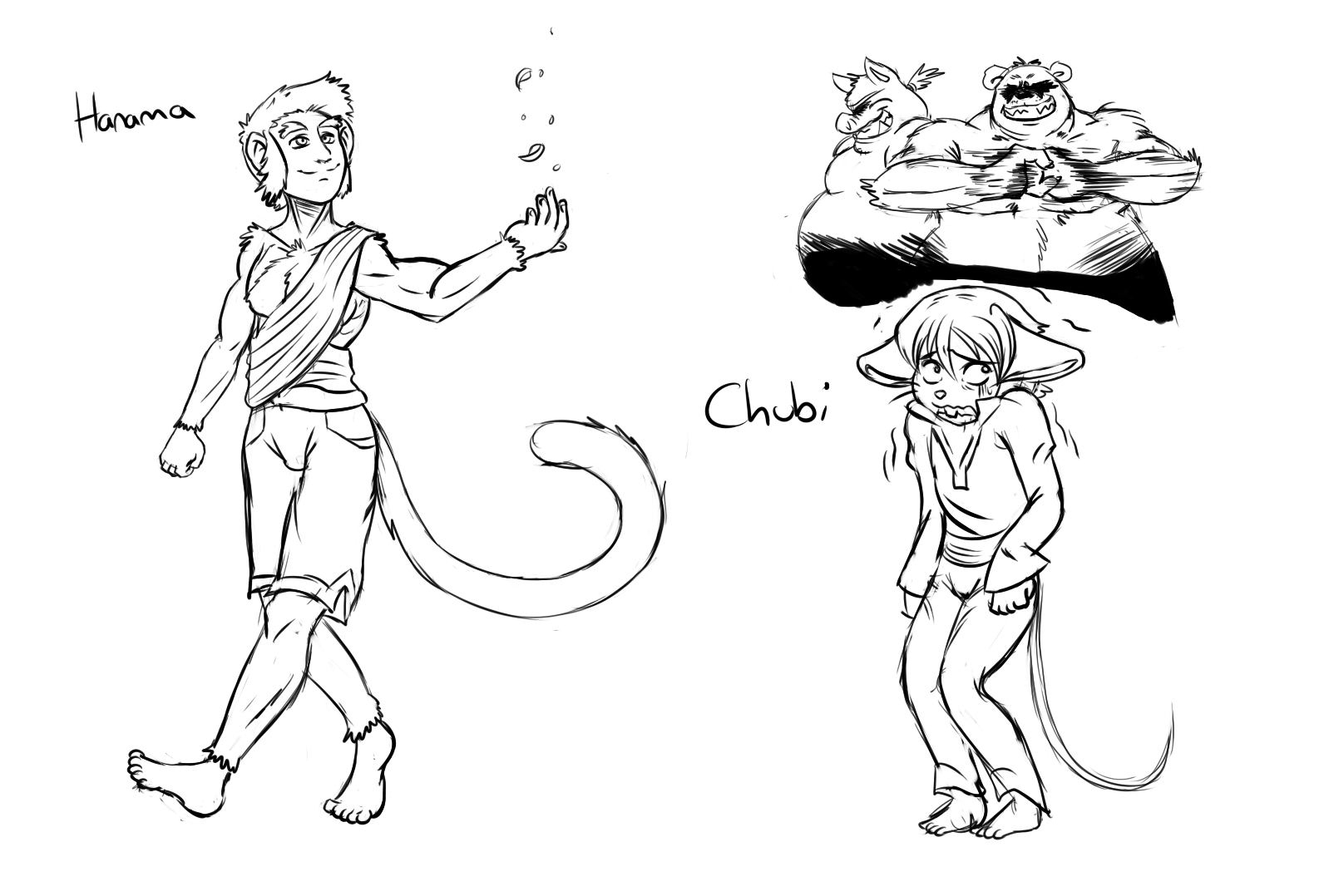 Year of the Cow – Filler: Hanuma and Chubi Sketches